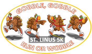 Saint Linus Annual 5K Turkey Trot Logo